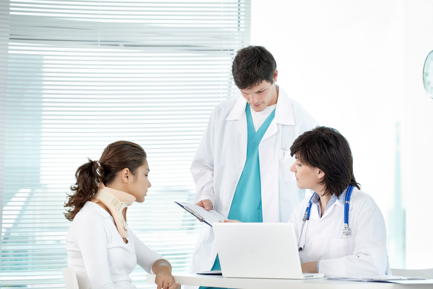 Doctors and patients at Ambulatory Surgery Center